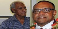 Prime Minister Pohiva and Former Chair of Tonga Broadcasting Commission Tapu Panuve