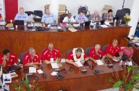 Tongan Officials During Race to Host South Pacific Games 2019