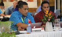 Mr Paula Ma'u, Chief Executive Officer of Tonga's Ministry of Meteorology, Energy, Information, Disaster Management, Environment, Climate Change and Communications at the meeting